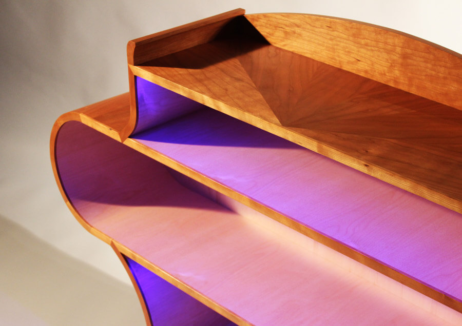 Illuminated Bookcase by Howard Butler