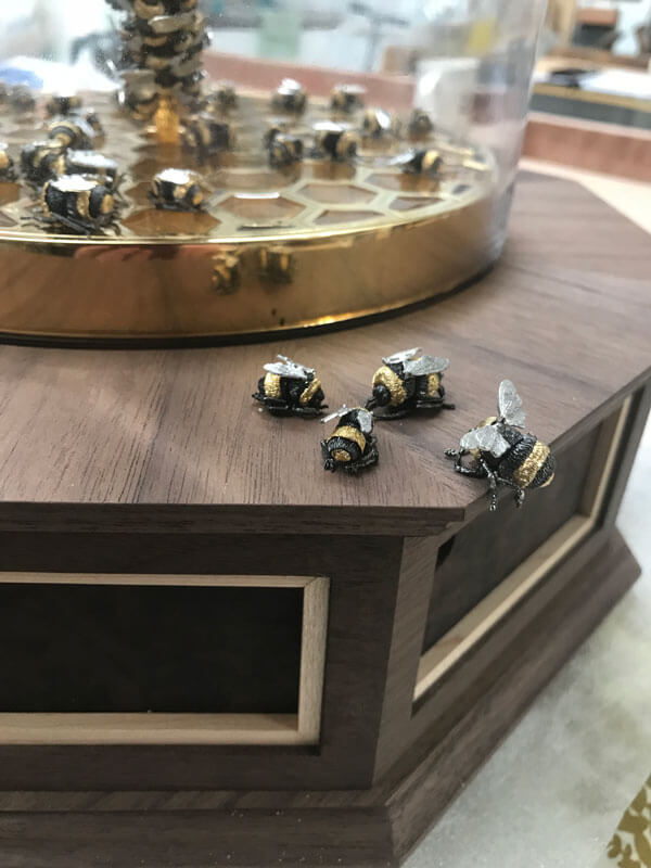 Bee Plinth by Howard Butler bespoke Furniture