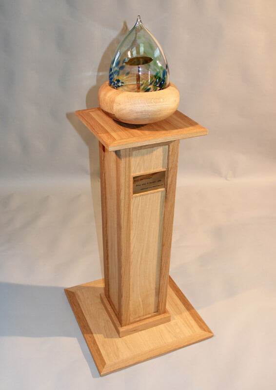 The Acorn glass by Howard Butler bespoke Furniture