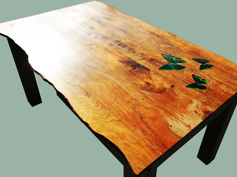 Bespoke Butterlfy Table by Howard Butler