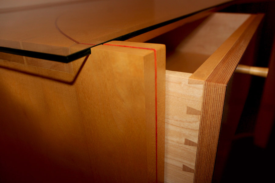 Custom chest of drawers by Howard Butler