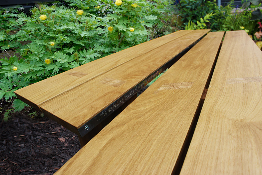Leaf Bench Bespoke Design by Howard Butler Mater Craftsman