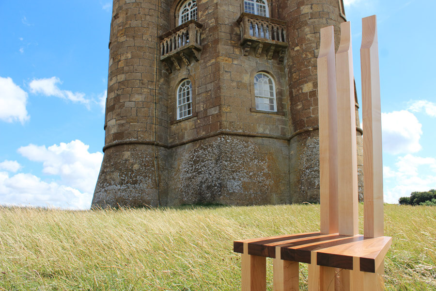 Seven Legged Chair by Howard Butler in the Cotswolds