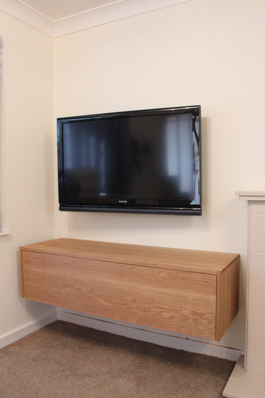 Floating Media Unit by Howard Butler bespoke Furniture