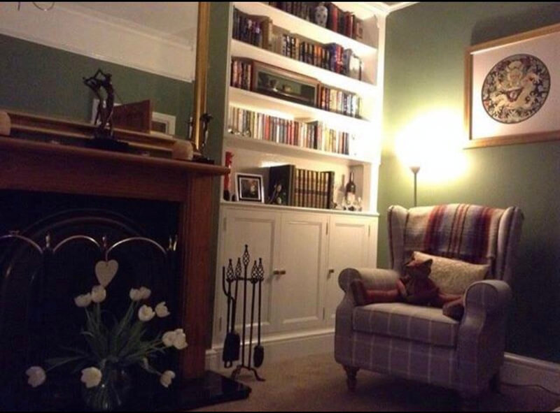 Traditional Fitted Bookcases by Howard Butler bespoke Furniture